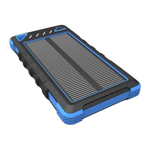 MixBin Waterproof, dust Proof, Shockproof, 8000 mah External Battery Pack for All Phones - Blue