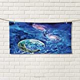 Chaneyhouse Constellation,Hair Towel,Exo Solar Planet Painting Style Vibrant Universe Awesome Space,Quick-Dry Towels,Turquoise Blue Pale Pink Size: W 8'' x L 23.5''