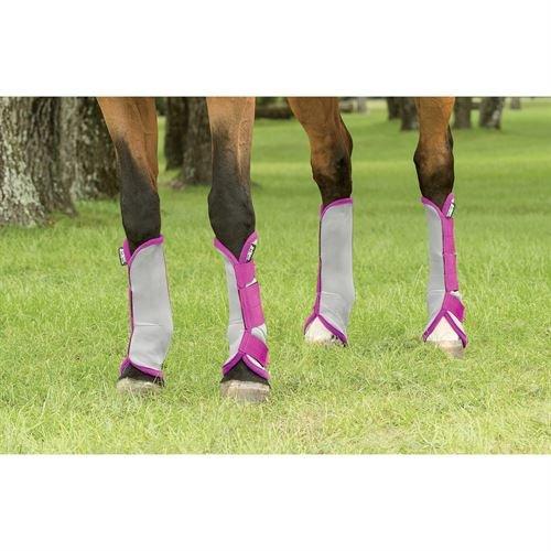 amiGO Fly Boots Horse Silver/Purple by amiGO (Image #1)