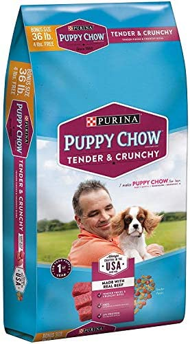 .Purina Puppy Chow Tender and Crunchy Puppy Food 36 lb. Bag