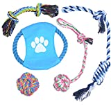 PetforCity Puppy Chew Teething Dog Pet Rope Toys for Small to Medium Dogs (Set of 5)