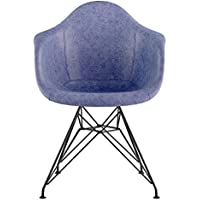 NyeKoncept 332015EM2 Mid Century Eiffel Arm Chair, Weathered Blue
