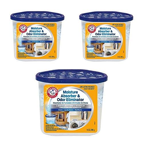(Arm & Hammer FGAH14 14 Moisture Absorber & Max Odor Eliminator Tub, 14 oz (3)