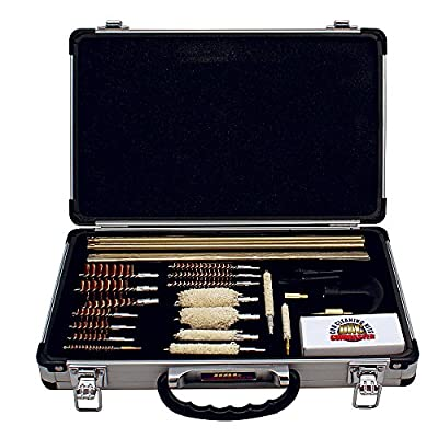 Gunmaster Universal Gun Cleaning Kit with Aluminum Case (35-Piece), Multi-Color