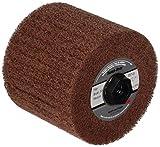 Scotch-Brite(TM) Match and Finish Flap Brush, Aluminum Oxide, 4-1/2'' Diameter x 4'' Width, 5/8''-11 Thread, Medium Grit, 5A Density (Pack of 1)
