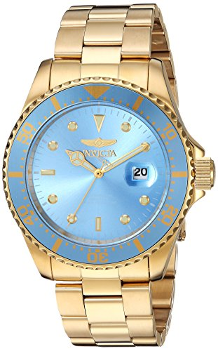Invicta Men's 'Pro Diver' Quartz Stainless Steel Diving Watch, Color Gold-Toned (Model: 22066) by Invicta