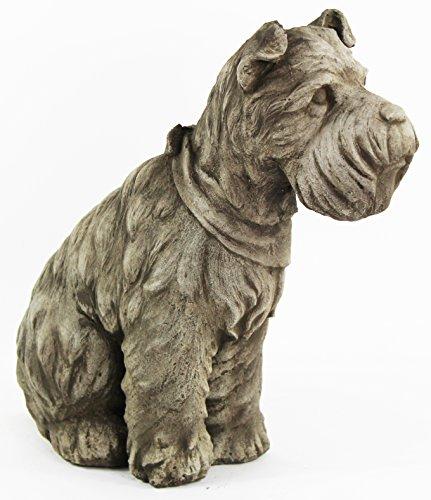 Schnauzer Dog Home and Garden Statues Puppy Cement Sculpture Concrete Doggy Figure (Garden Ornament Dachshund)