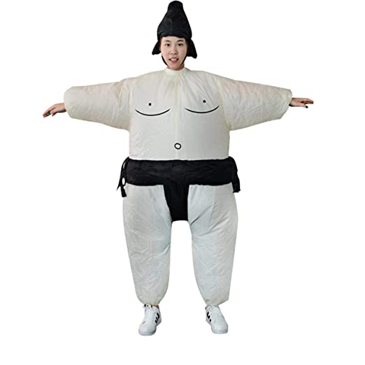 Ballylelly Ventilador Inflable Vestido de sumo Novedad Gordo ...