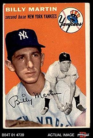Amazoncom 1954 Topps 13 Wht Billy Martin New York