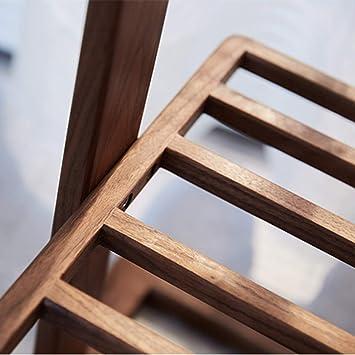 DWW Perchero Simple nórdico, Moderno, nórdico, Negro, de Madera Maciza y Perchero para Dormitorio. (Color : Walnut Color - 1.5 m): Amazon.es: Hogar