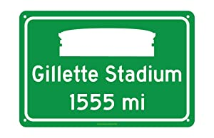 CELYCASY New England Patriots Gillette Stadium Miles to Stadium Highway Road Sign Customize The Distance