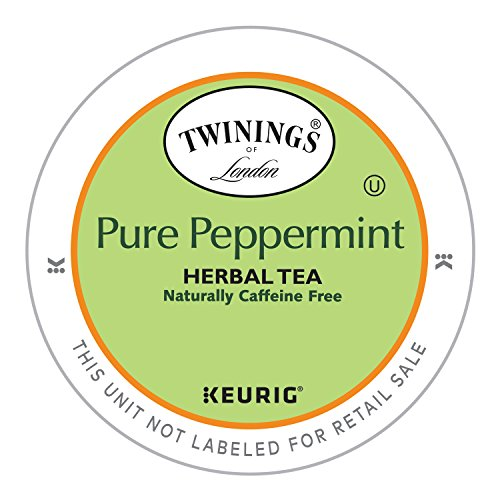 (Twinings of London Pure Peppermint Tea K-Cups for Keurig, 24 Count)