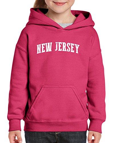 Ugo NJ New Jersey Flag Newark Map Tigers Home of Princeton University Hoodie Girls and Boys Youth Kids - Village Jersey New Kids