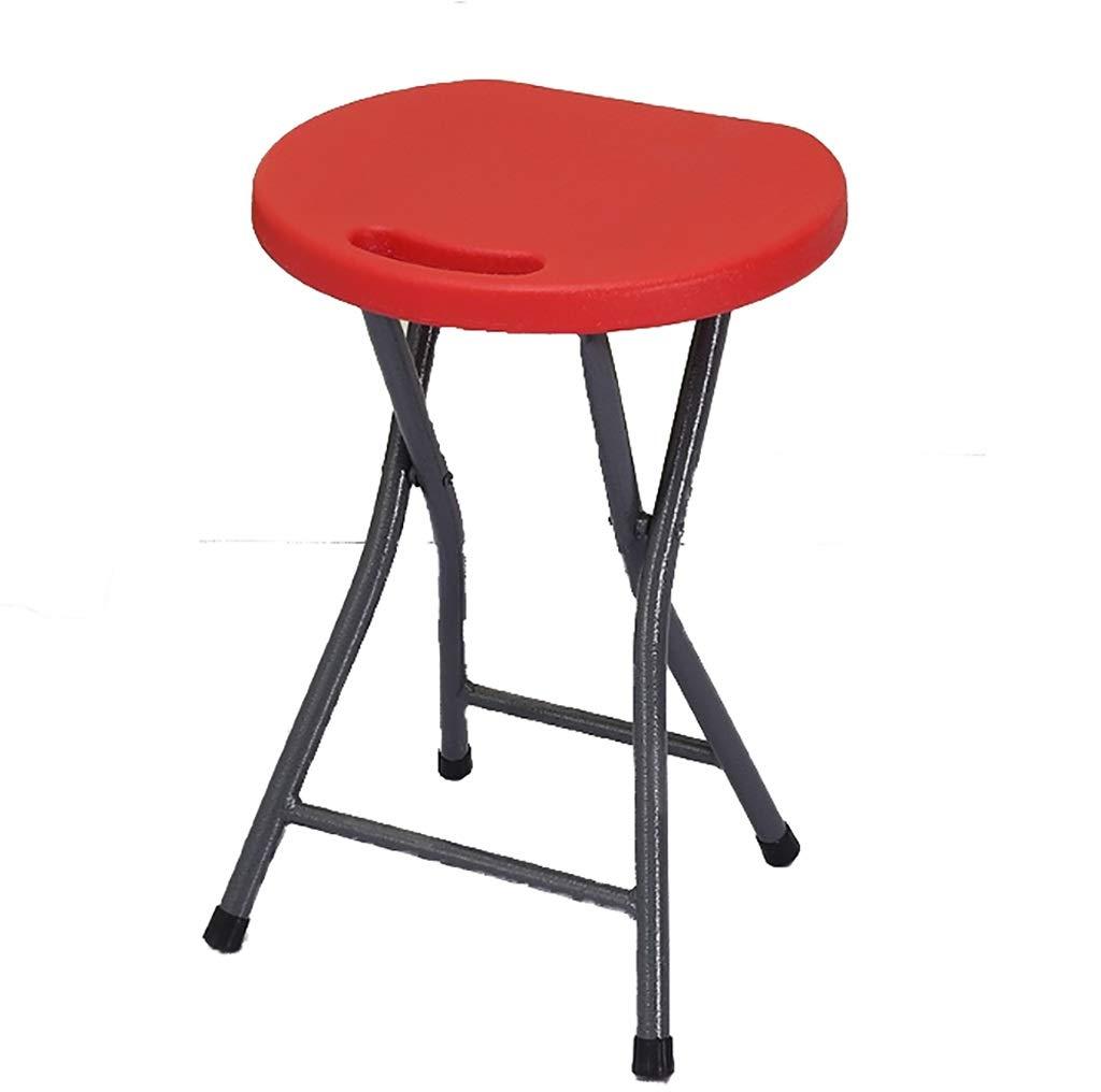 C  SYTPZ SMQ Tabouret Pliant en Plastique Chaise Haute Petit Tabouret Rond Table à Manger Salle de Bains portable en Plein air Chaise Pliante extérieure
