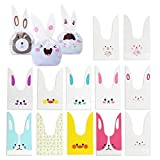 Cute Rabbit Ear Bag 90 Pcs per Set for Wrapping Gift, Dessert, Sandwich, Snack, Candy, Biscuits, Cookies, Gifts, Cakes, Fruits, Children's Toys Collection