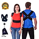 Art of Health Posture Corrector - Orthopedic Clavicle Support Brace - Medical Upper Back Posture Corrector - For Men & Women - Storage Bag Included, Size- (41-49)