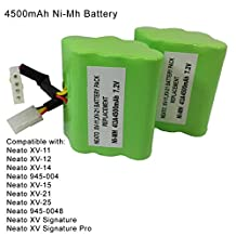 MegaPower (TM) 2 Pack High Capacity 7.2V 4500mAh Neato XV-11 XV-12 XV-15 XV-21 Vacuum Cleaner Replacement Battery For Neato Robotics 945-0005 205-0001 945-0006 945-0024