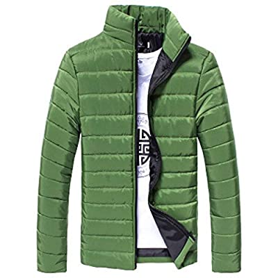 GREFER Clearance New Men Cotton Stand Zipper Warm Winter Thick Coat Jacket