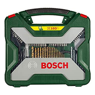 Bosch 2607019331 Titanium Drill and Screwdriver Set (Green and Black, 103-Piece) 8