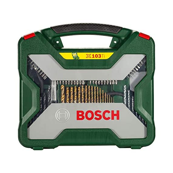 Bosch 2607019331 Titanium Drill and Screwdriver Set (Green and Black, 103-Piece) 2