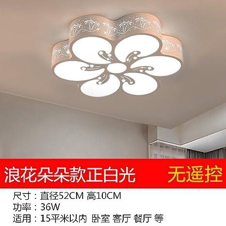 Lámpara de techo Led cálido y romántico dormitorio luminaria ...