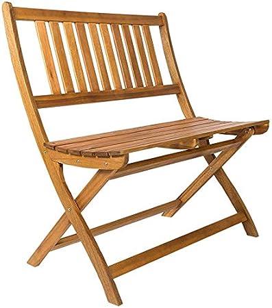 Amazon De Sam 2 Sitzer Gartenbank Blossom 80 Cm Sitzbank Akazien Holz Massive Holzbank Ideal Fur Den Balkon Oder Garten