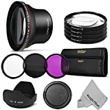 58MM Ultimate Beginner Accessory Kit for Canon DSLR Cameras (Rebel T5i T4i T3i T3 T2i T1i XT XTi XSi SL1) + MagicFiber Microfiber Cleaning Cloth
