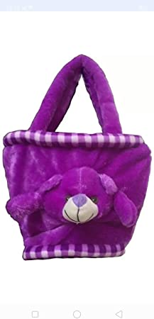 Jassi Toy Soft Toys Kids Purse Hand Bag for Kids (Purple)