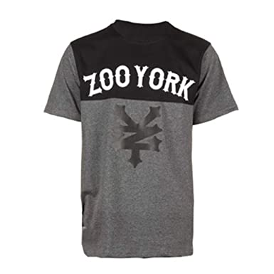 Zoo Designer Clothing | Zoo York Mens Designer Waverly Heather Charcoal T Shirt Top Rrp