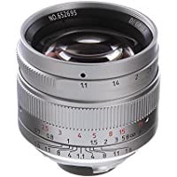 7artisans 50mm F/1.1 Manual Focus MF Lens for Leica M Mount M3 M6 M7 M8 M9p M10 Dslr Cameras Silver