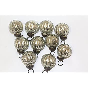 Antique mercury glass ornaments (ribbed silver)
