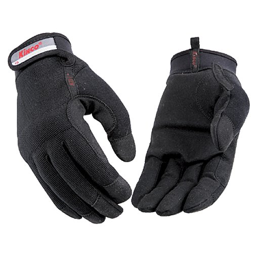(KINCO 2011-M Men's Unlined Driver Gloves, MiraX2 Synthetic Palm, Medium, Black)