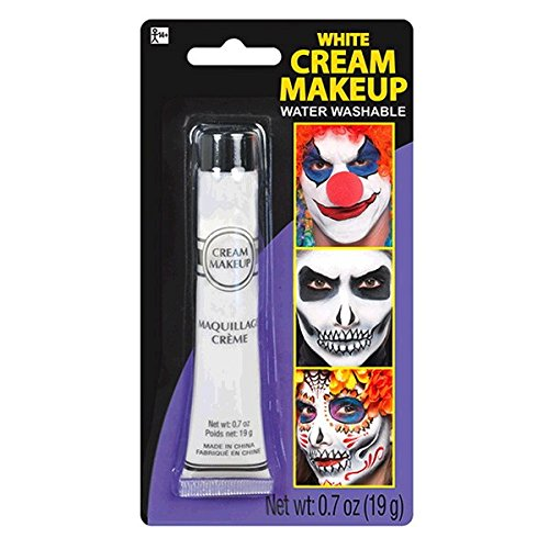 Party Ready Fashion Cream Makeup Costume Accessory, White, 0.7 Ounce Tube
