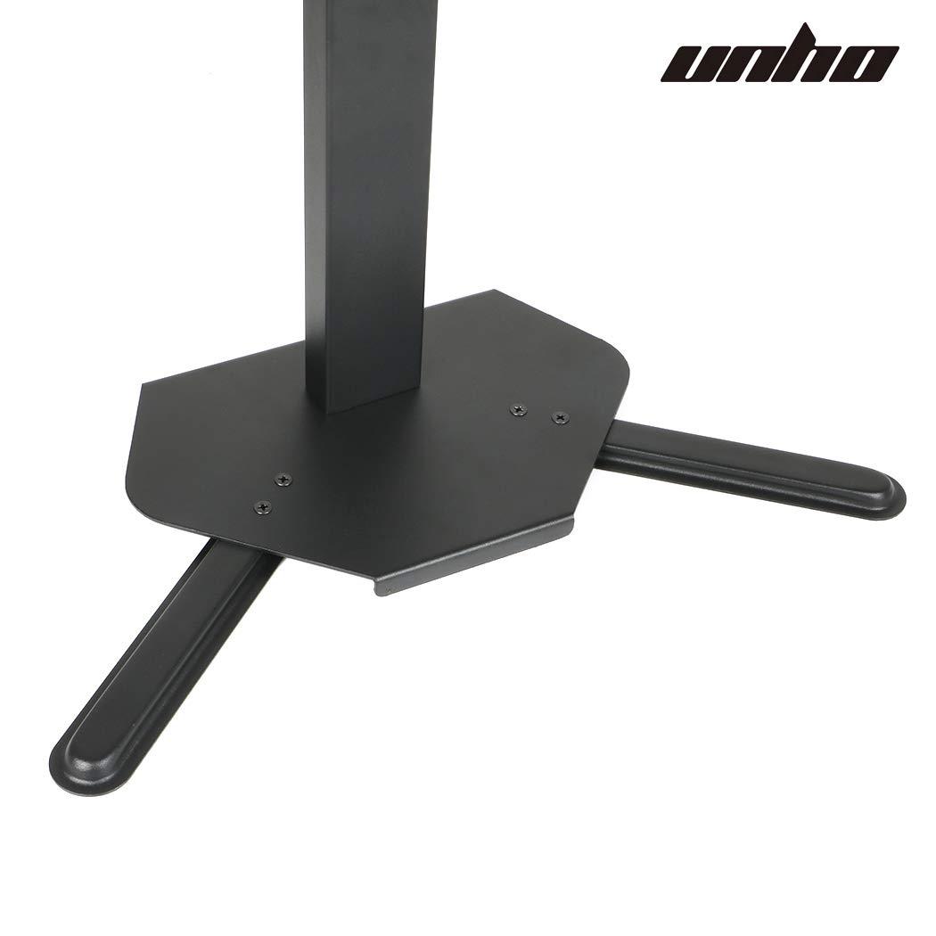 UNHO Support TV sur Table R/églable en Hauteur Fixation Moniteur sur pied pour Ecrans Plat 17-42 pouce Capacit/é de charge max 25kg VESA 100x100 200x200mm Id/éal pour bureau maison ou salle de r/éunion
