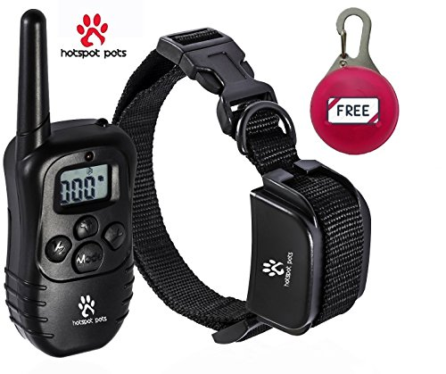 Hot Spot Rechargeable and Waterproof 330 yd Remote Dog Training Shock Collar with Beep, Vibration and Shock Electronic Electric Collar