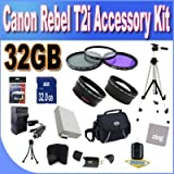 Canon T2I Accessory Saver Kit (58mm Wide Angle Lens + 58mm 2X Telephoto Lens + 58mm 3 Piece Filter Kit + 32GB SDHC Memory + Extended Life Battery Accessory Saver Bundle!)