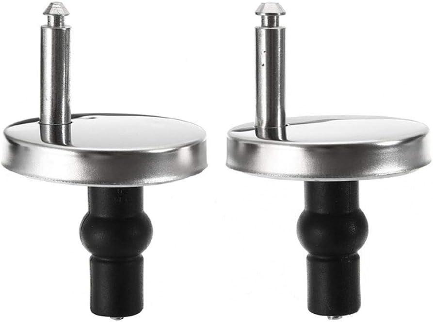 Bisagras tapa wc bisagras de asiento con tornillos accesorios//Replacement Toilet Seat Hinges para Montar y Fijar Todas las Tapas de Inodoro Est/ándar 2 piezas