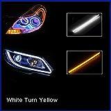 FOLCONROAD 2X 60cm Car Flexible Tube LED Strip Daytime Runnning Lamps DRL Light
