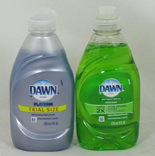 Dawn Ultra Refreshing Rain and Apple Antibacterial Dishwashing Liquid (8 oz. Bottles)
