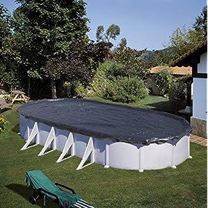 Gre CIPROV501 – Cobertor de Invierno para Piscina Ovalada de 500 x 300 cm, Color Negro
