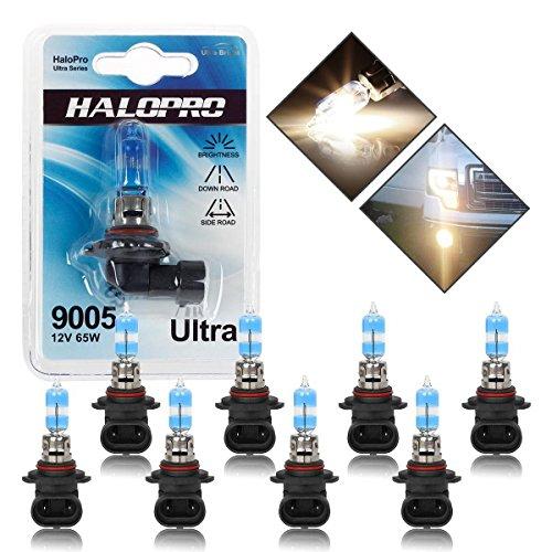 (Pack of 8) Ultra Series 9005 Halogen Headlight High Beam Daytime Running Lights Bulbs 4300k (5500 Laser Series)