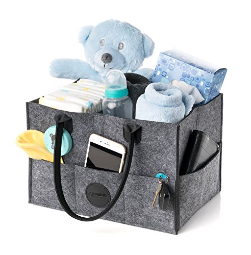 Stylish Baby Diaper Caddy Organizer | Nursery Storage Bin fo