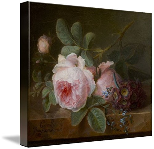 Wall Art Print Entitled Cornelis Van Spaendonck and Cabbage Rose by Celestial Images | 10 x 8 ()