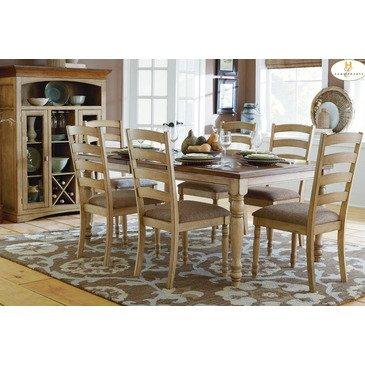 Homelegance Nash 8 Piece Rectangular Extension Dining Room Set in Oak