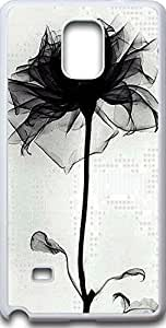 Note 4 Case,Deseason Samsung galacxy note 4 Hard Case **NEW** Case for Sumsung galaxy note4 (2015) Verizon The black rose by ruishername