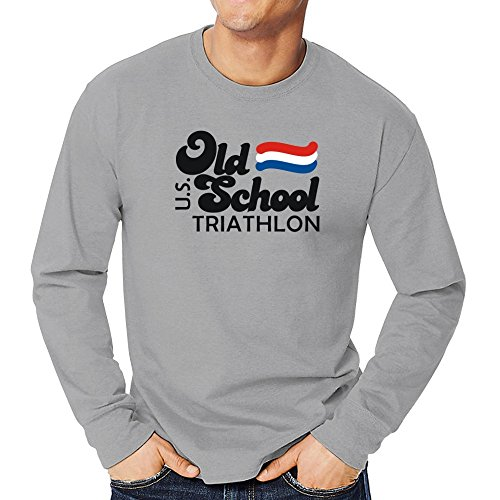 Teeburon OLD SCHOOL Triathlon USA Long Sleeve - Triathlon Shirts T Usa