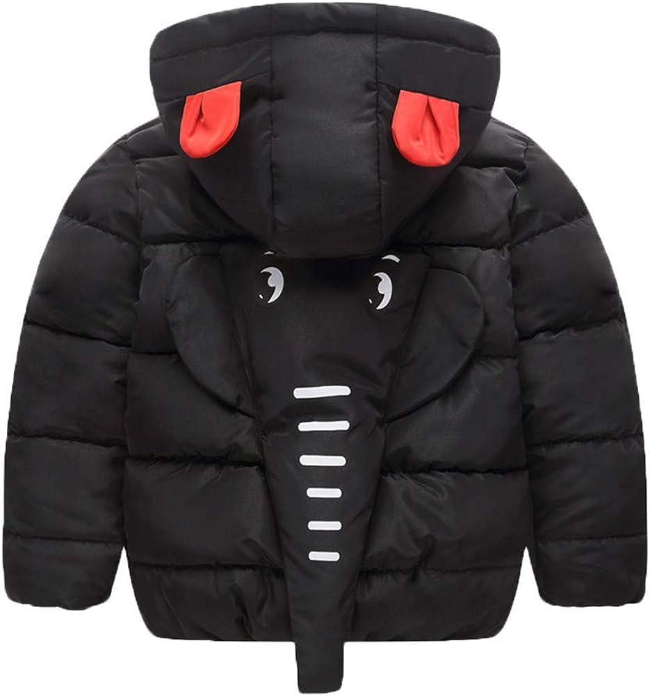 Geetobby Children Girl Boy Coats Long Sleeve Thick Elephant Nose Hooded Jacket