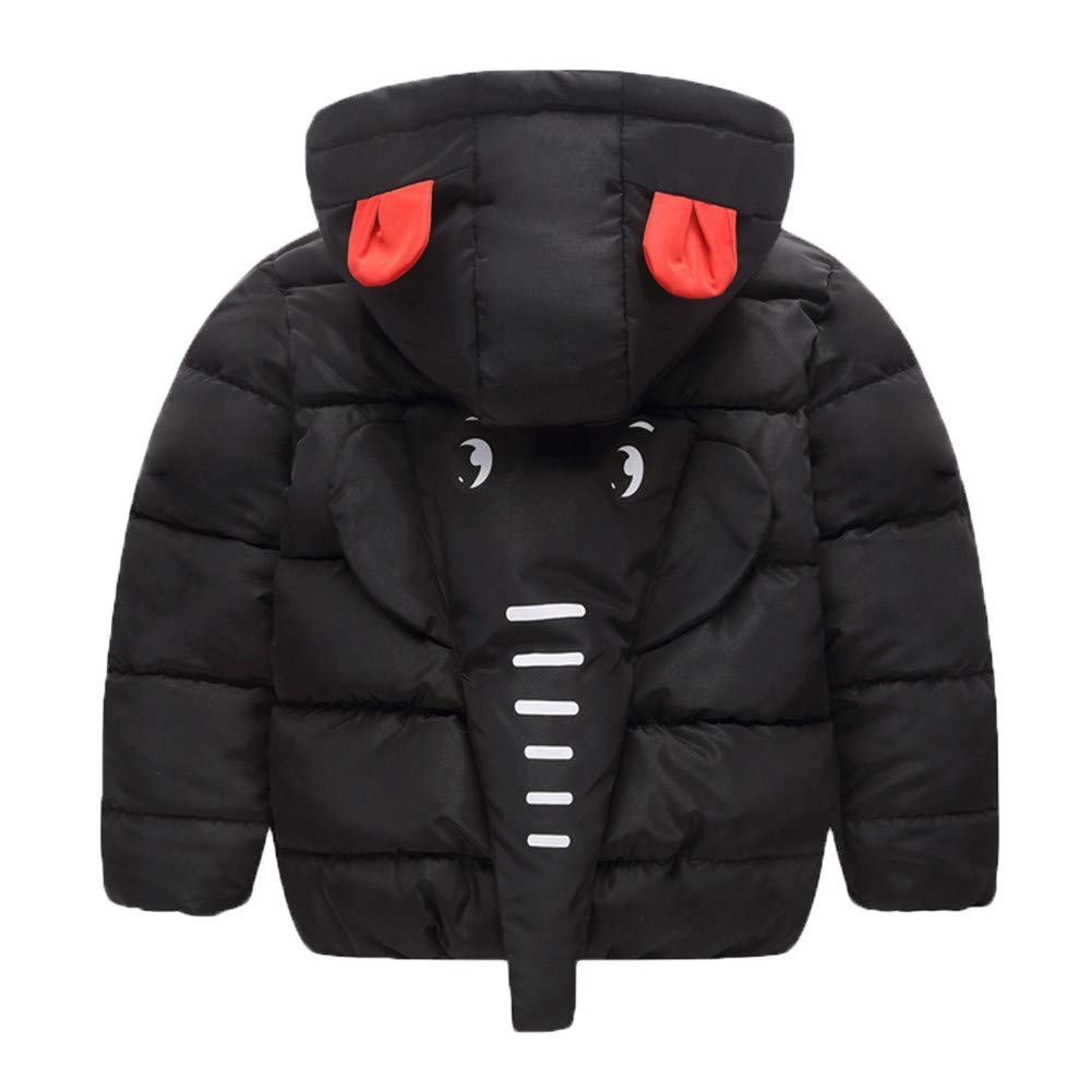 Lurryly❤Children Kids Winter Warm Cloak Thick Coat Jacket Hoodies Hooded Outerwear Clothes 3-7T