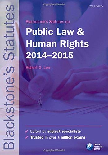 Blackstone's Statutes on Public Law & Human Rights 2014-2015 (Blackstone's Statute Series)