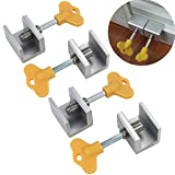 FidgetFidget Adjustable Sliding Window Locks Door Frame Security Locks With Key 4 Pcs US